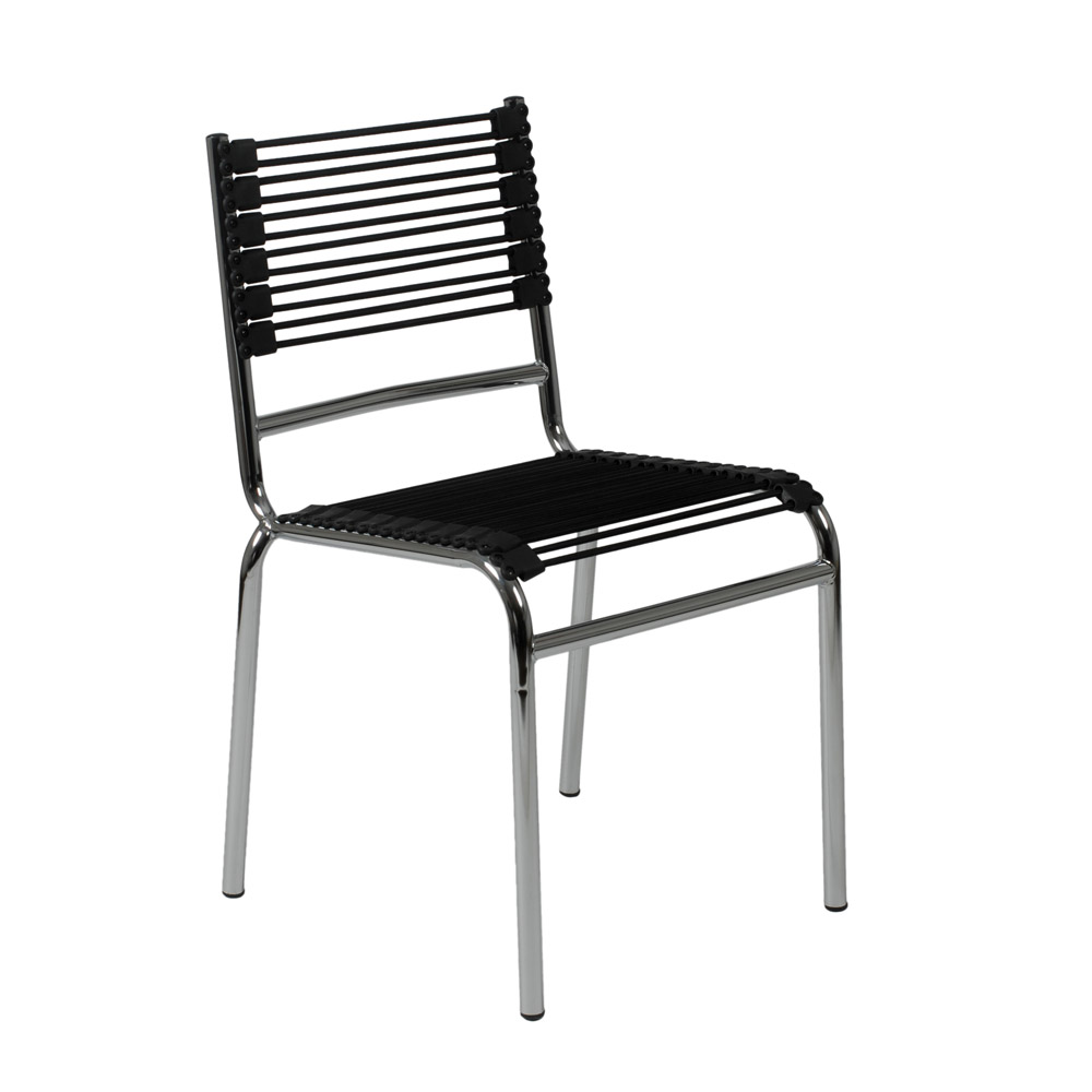 Black bungie s stacking flat bungee cords side chair zuri furniture malvernweather Gallery