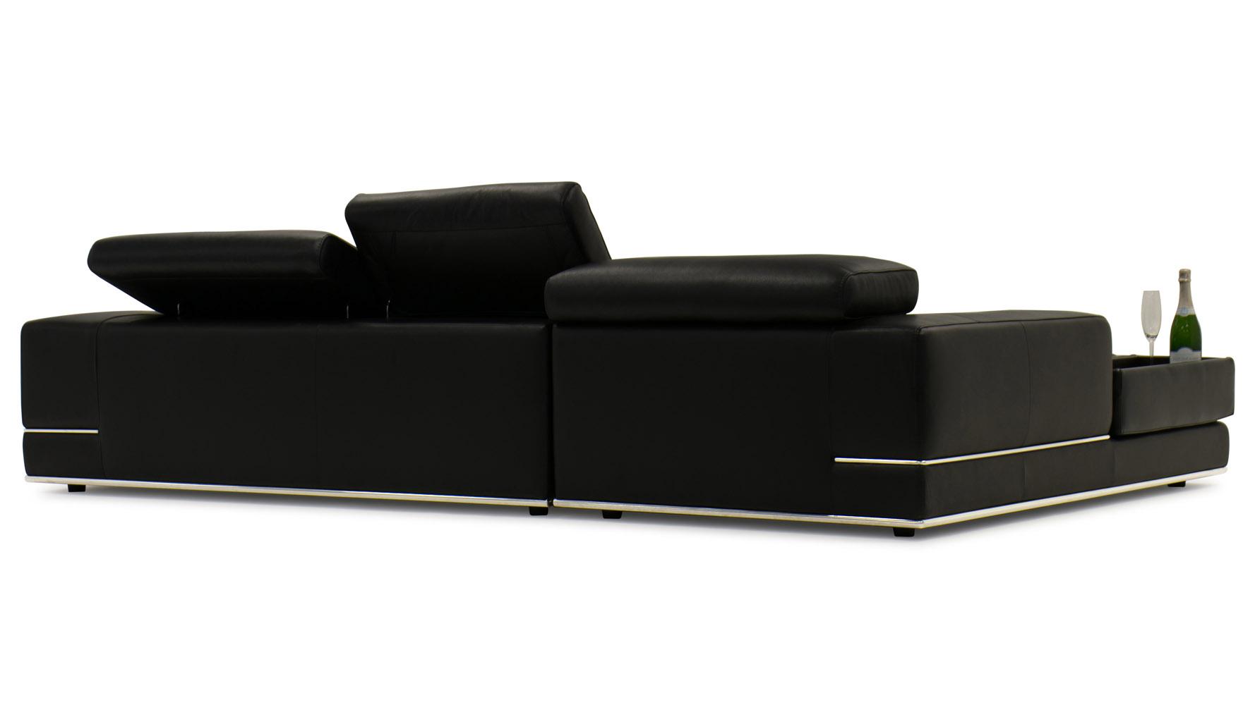 Encore Black Leather Sofa Zuri Furniture
