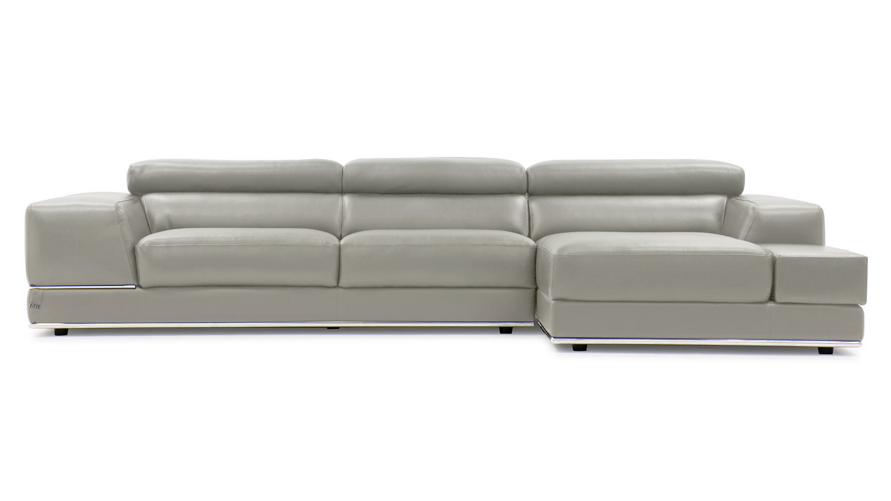 Grey Leather Sectional Sofa 1717 Leather Sectional Sofa In