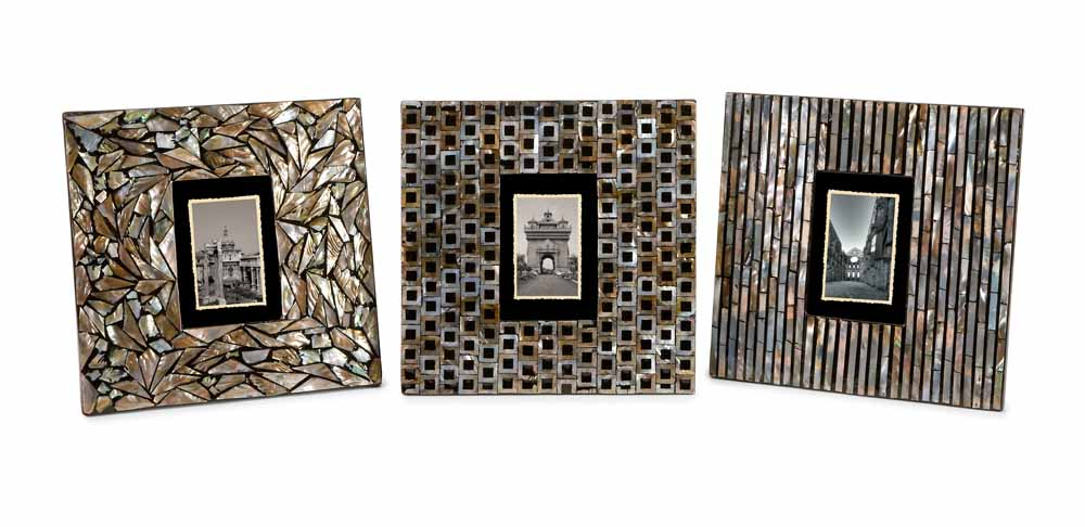 Jacobs Mother Of Pearl Photo Frames Set Of 3 Zuri