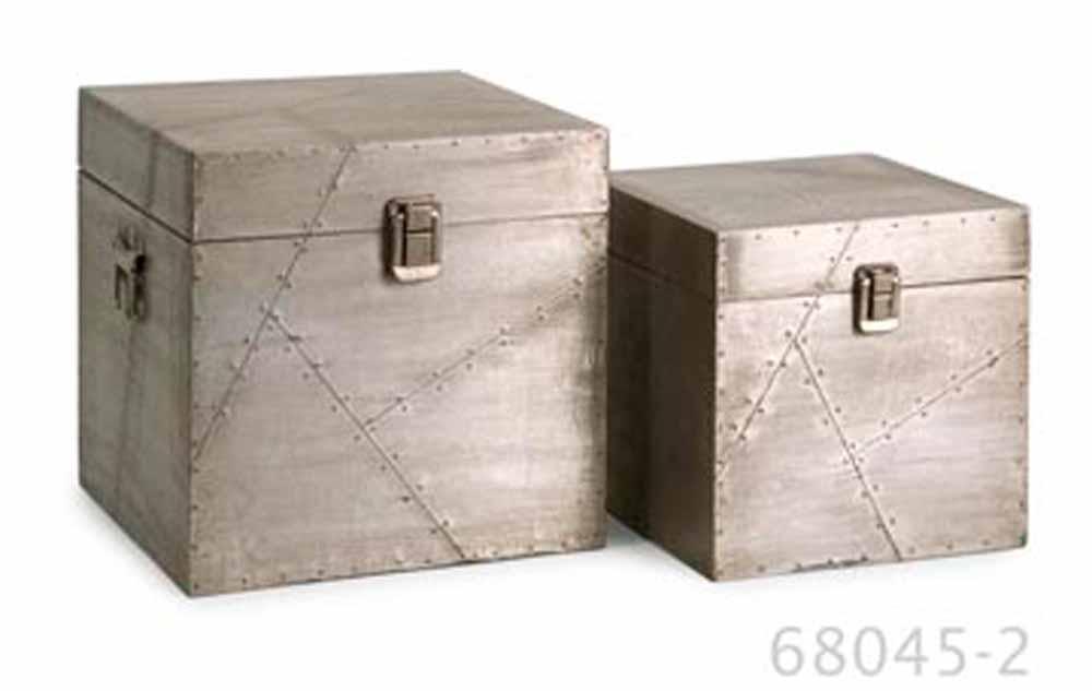 Aluminium Cladding Up Box : Jensen aluminum clad boxes set of zuri furniture