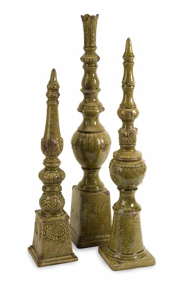 Davignon Tall Finials Set Of 3 Zuri Furniture