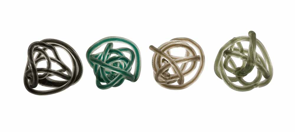 Large Glass Rope Knots Set Of 4 Zuri Furniture