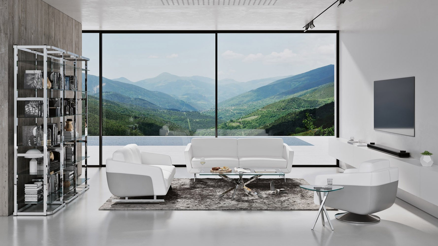 Picture of: Armondo Sofa Set With Swivel Chair Zuri Furniture