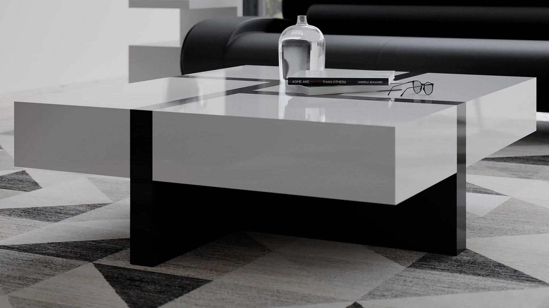 Wedge Black Gloss Coffee Table