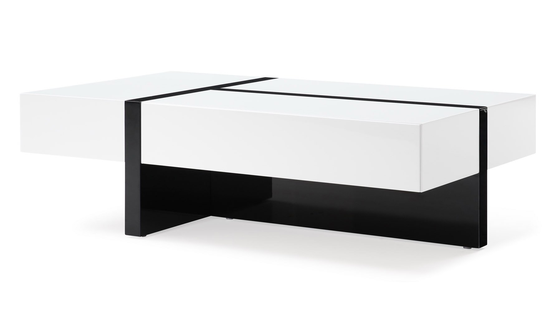Excellent Mcintosh Rectangle Coffee Table White And Black Gmtry Best Dining Table And Chair Ideas Images Gmtryco