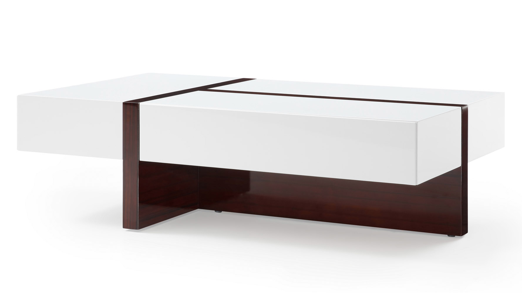 Mcintosh Rectangle Coffee Table With Storage In White High