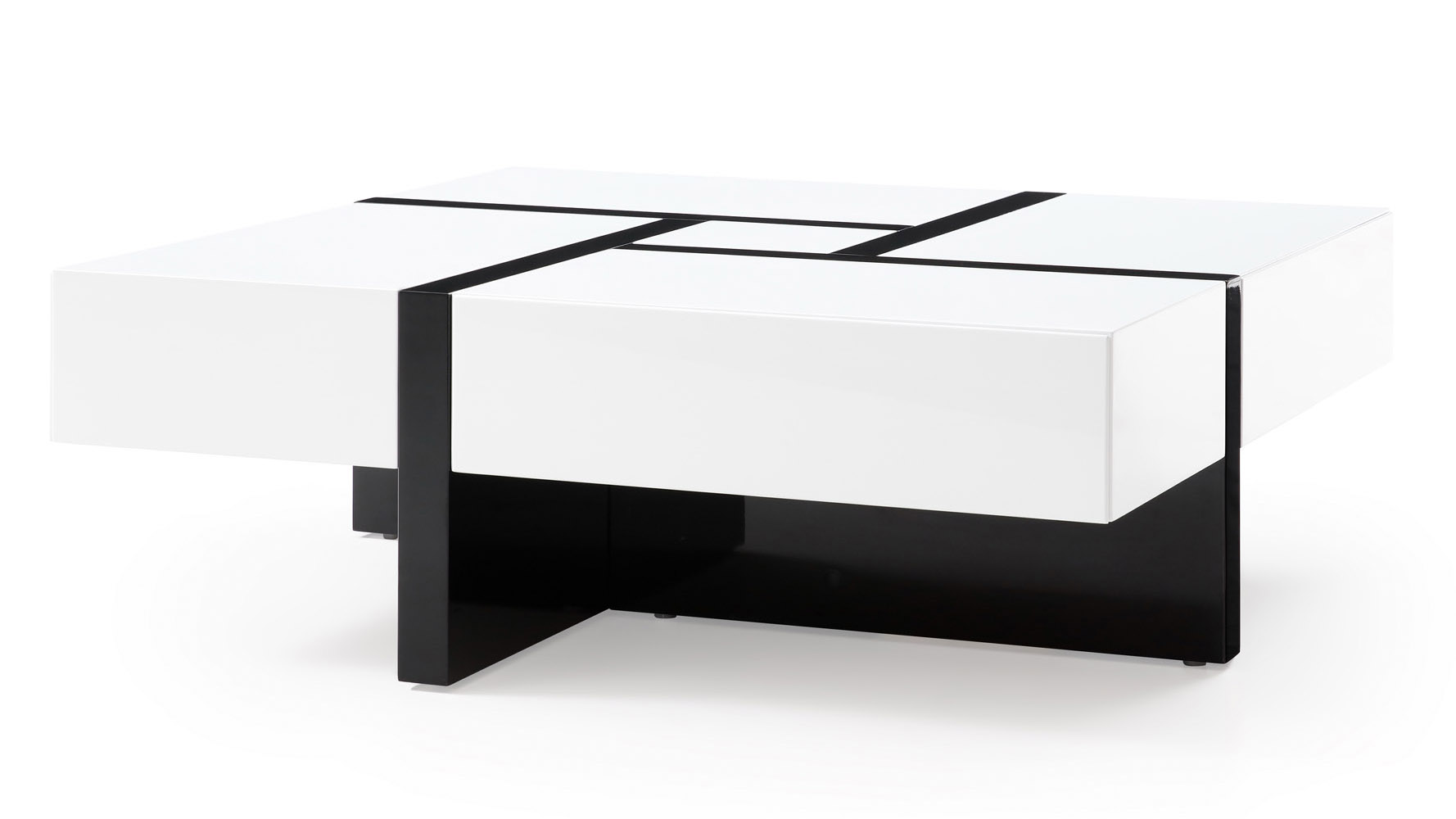 McIntosh Square Coffee Table - White and Black