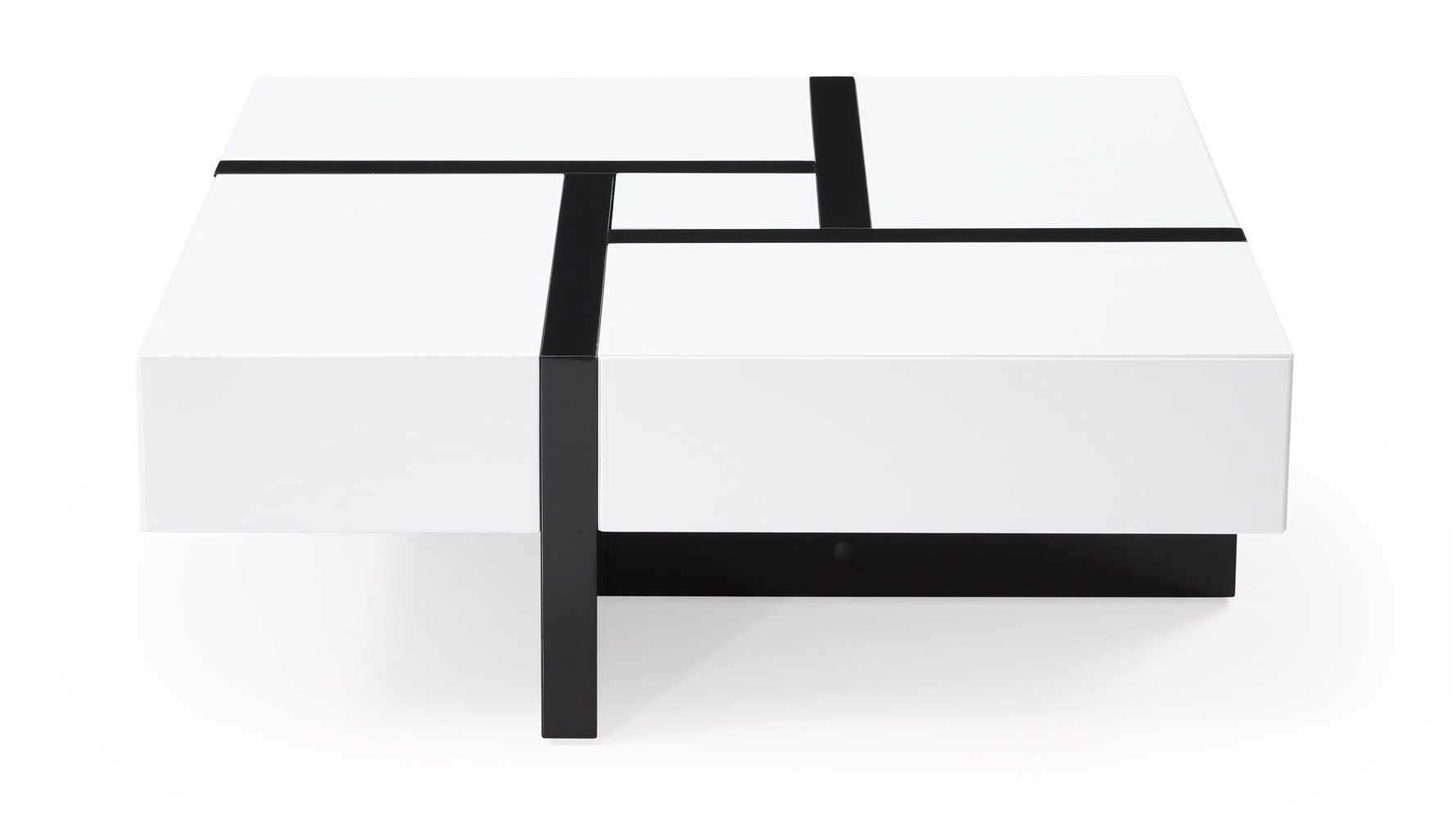 Mcintosh Square Coffee Table White And Black