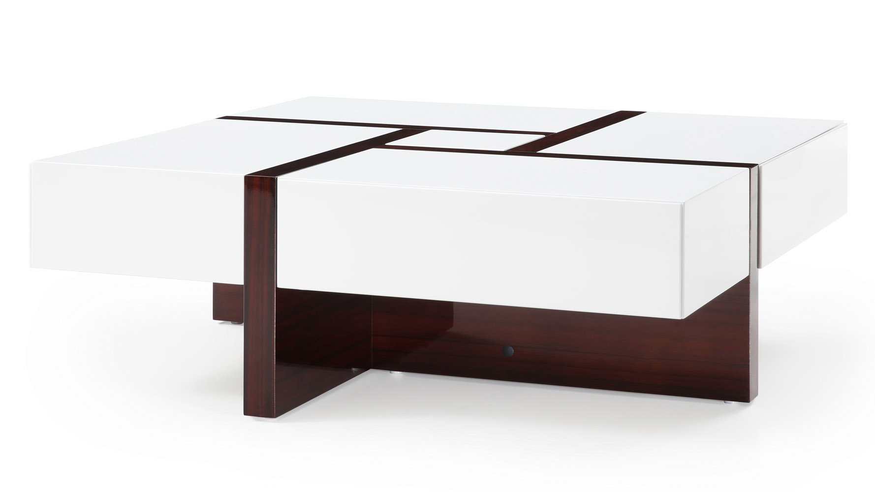 Mcintosh Square Coffee Table White And Ebony