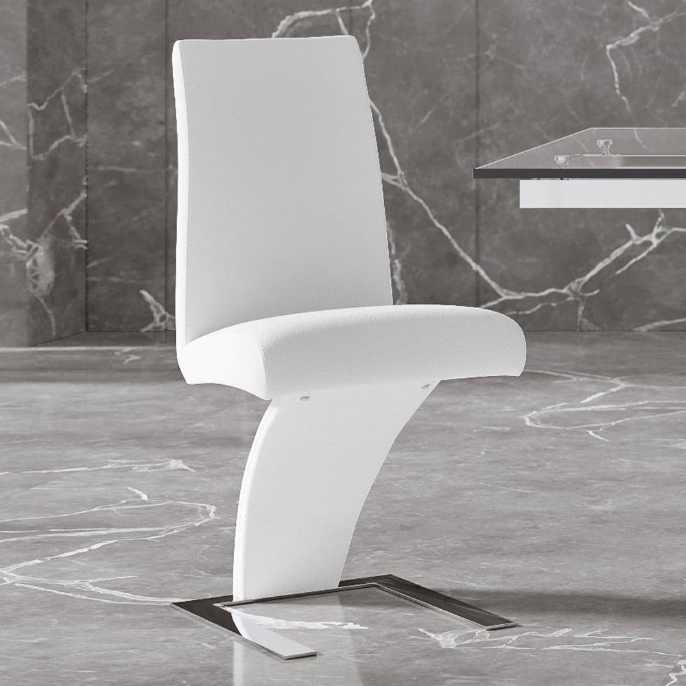 Mesa Modern White Dining Chair