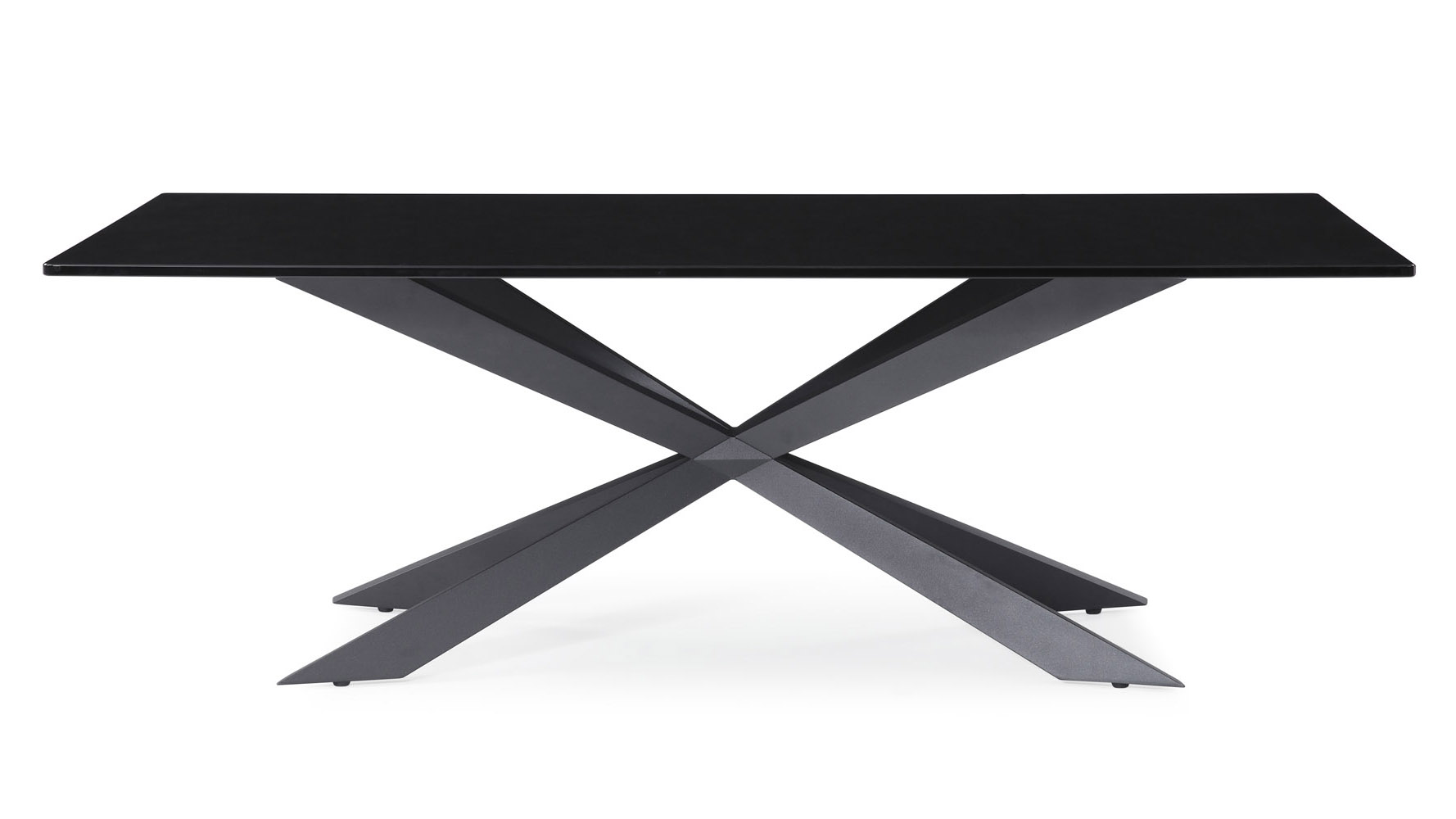 - Burton Modern Coffee Table Oversized 51 Inch In Smoked Glass With