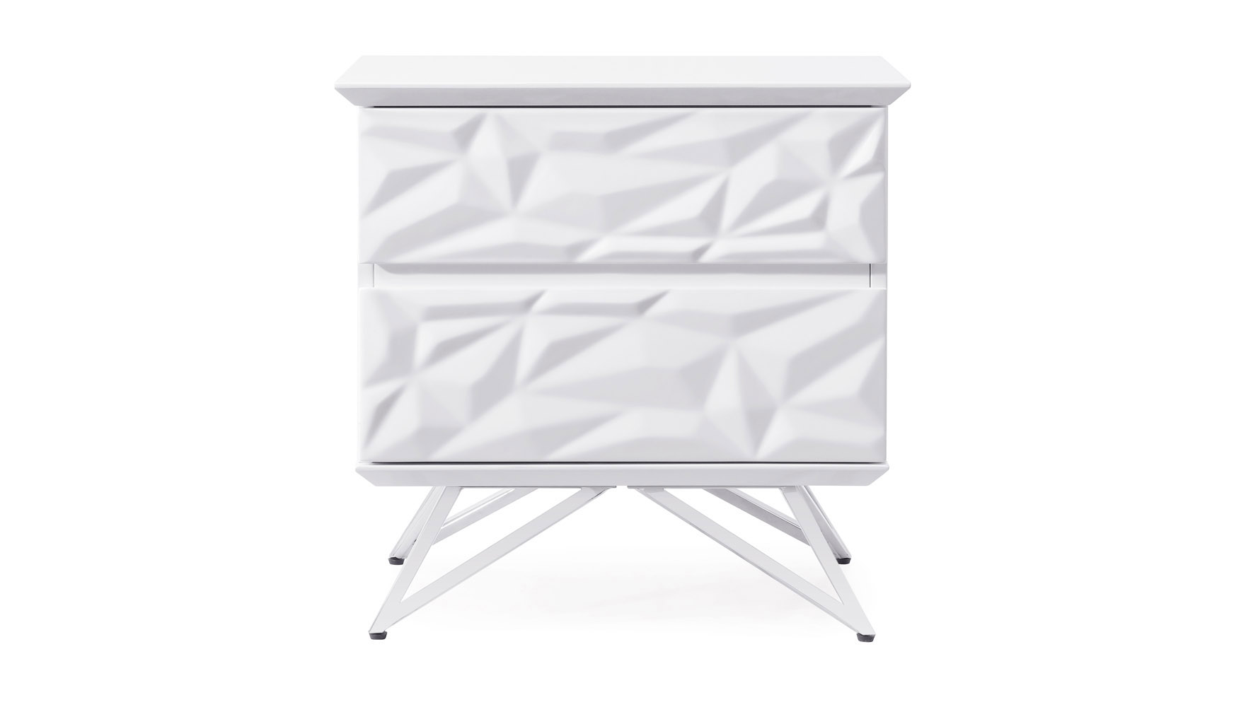 - Abesti Accent Table In White High Gloss Lacquer With Chrome Legs Zuri  Furniture
