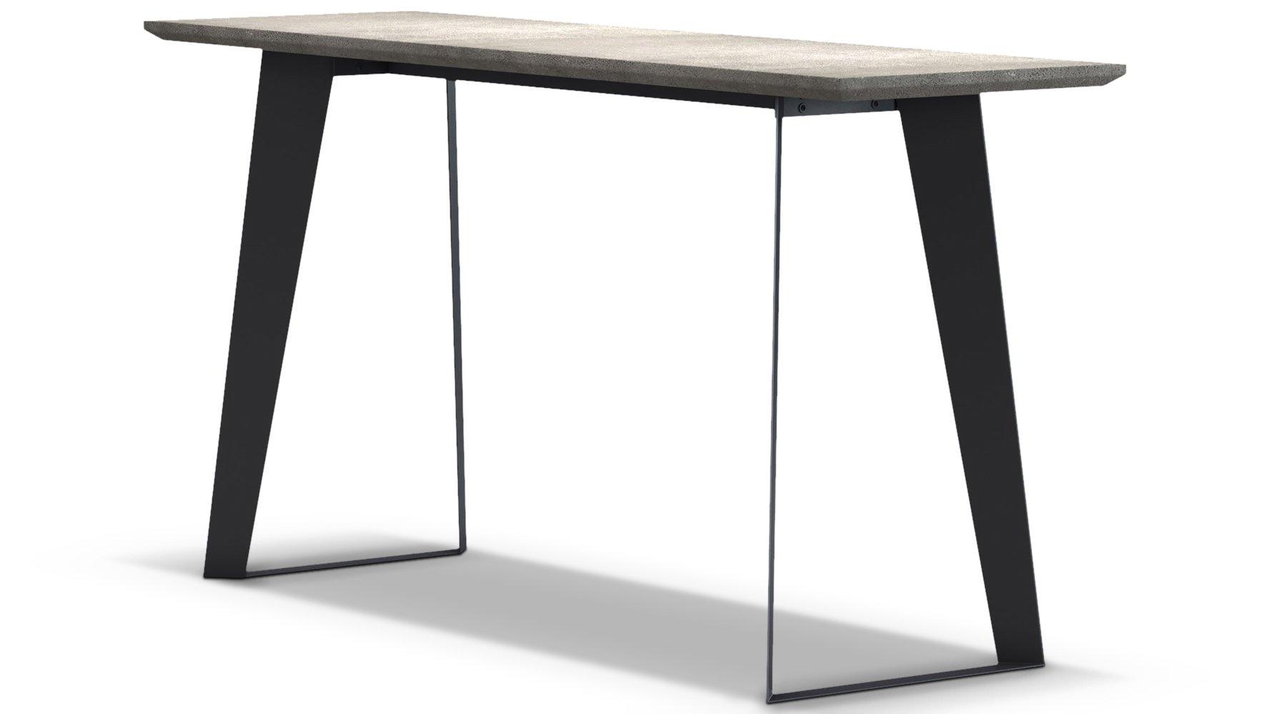 Adal Concrete Top Console Table Gray