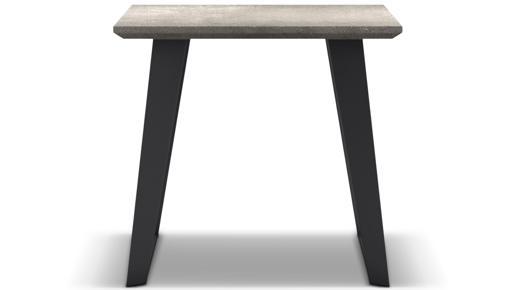 Adal Concrete Top Side Table Gray Zuri Furniture