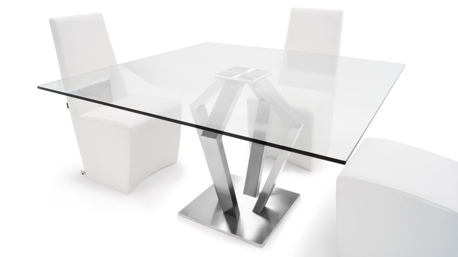 aiden  inch square dining table. aiden metal and glass  square modern dining table  zuri furniture