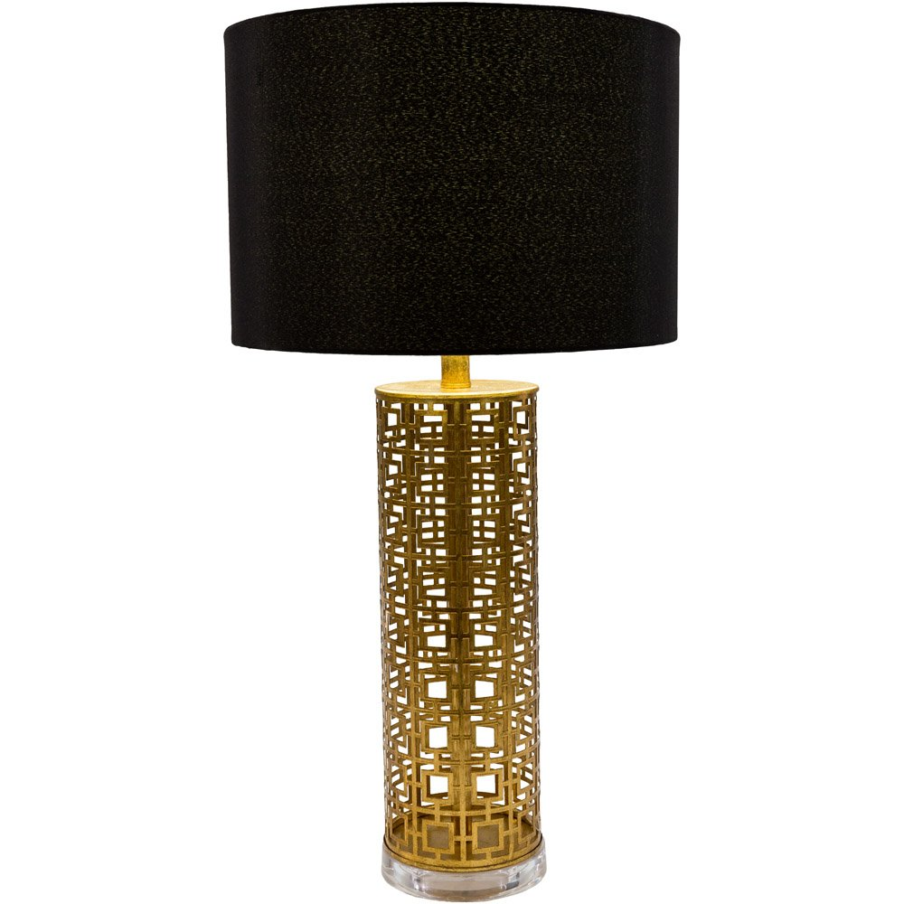 Alainn metal base and faux silk shade table lamp zuri furniture alainn table lamp geotapseo Gallery