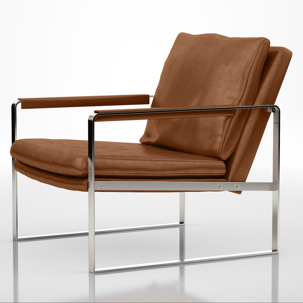 Alex leather lounge chair zuri furniture