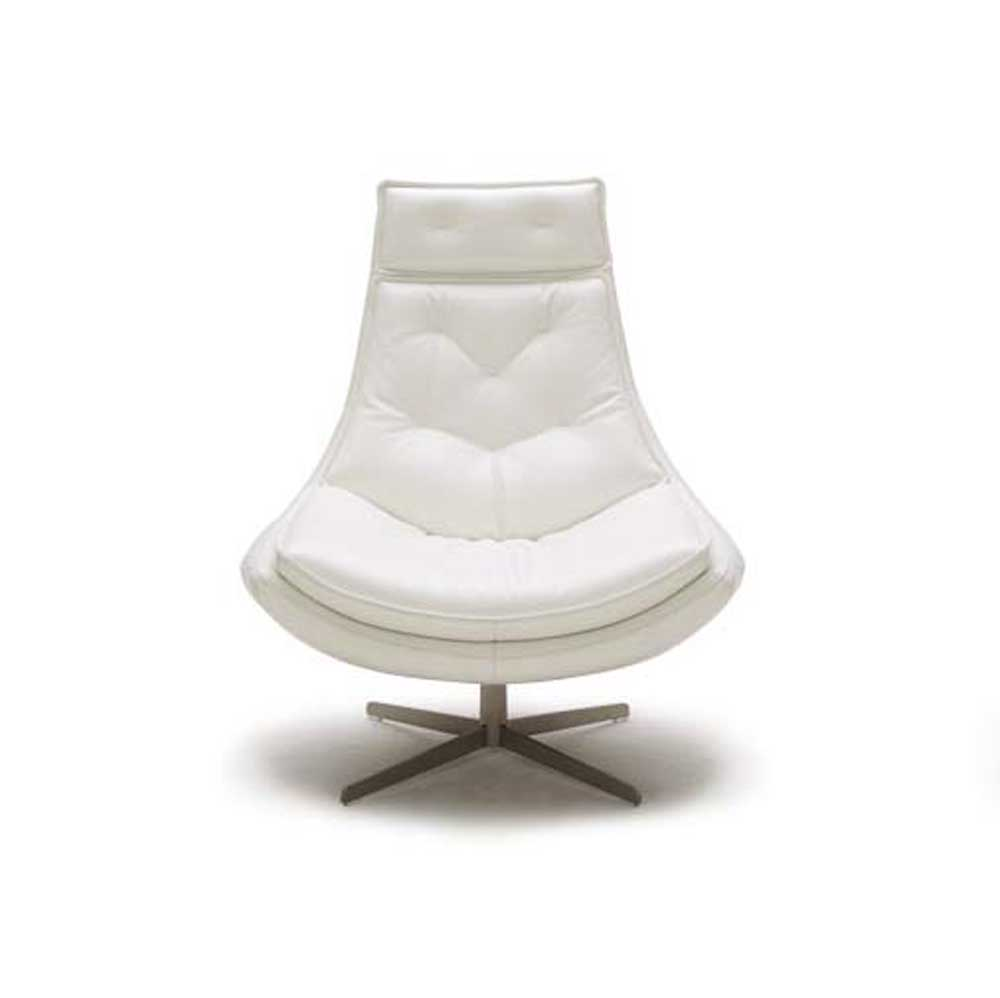 Alma Tufted Top Grain Leather Modern Accent Chair Zuri