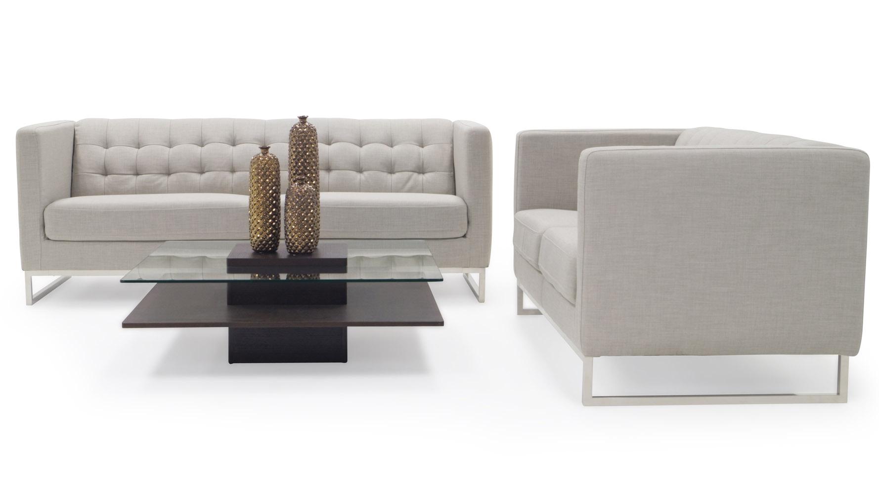 Alpha 3+2 Sofa Set - Cream | Zuri Furniture
