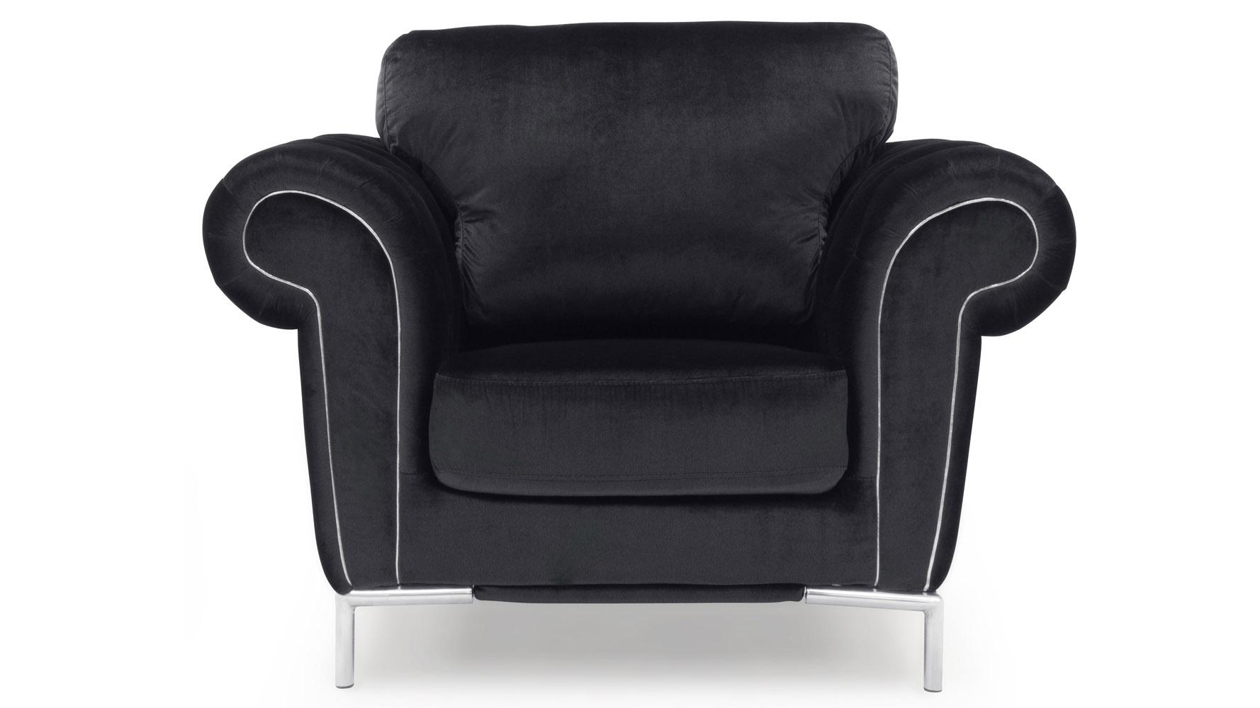 Charcoal Amora Sofa Set With Armchair Zuri Furniture White