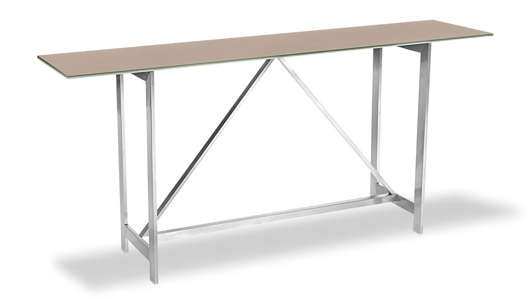 Anita modern console table with metal base and chocolate for 70 inch console table
