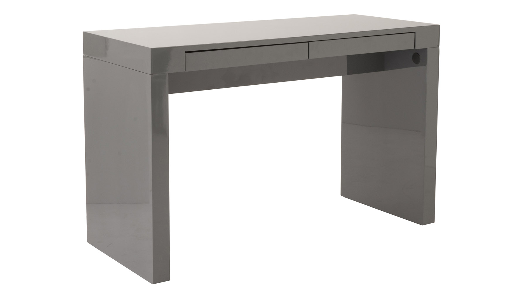 Ansel High Gloss Finish Desk Zuri Furniture