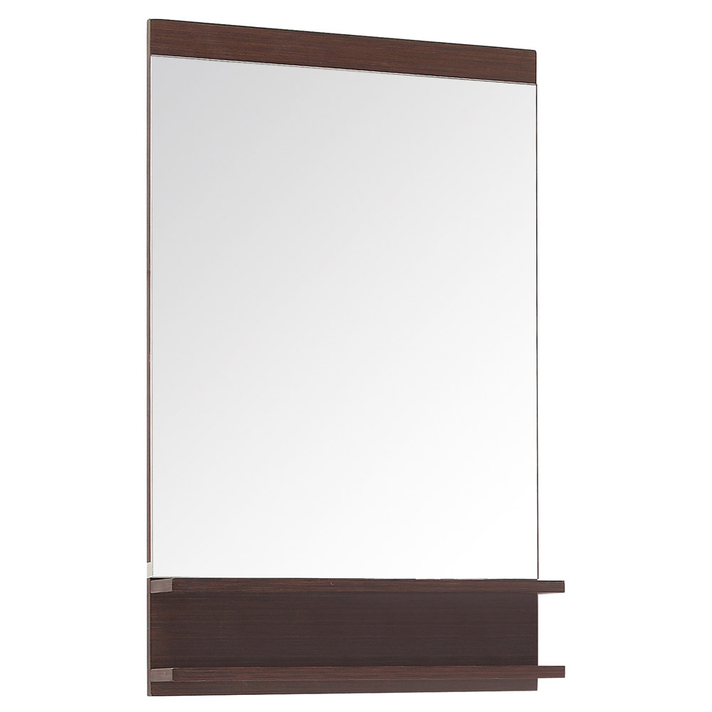 Milo Iron Wood Bathroom Mirror With 2 Shelves Zuri Furniture