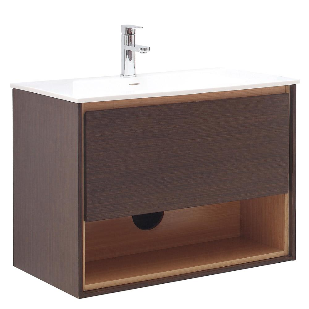 Sonoma Iron Wood Bathroom Vanity Set With White Stone Top