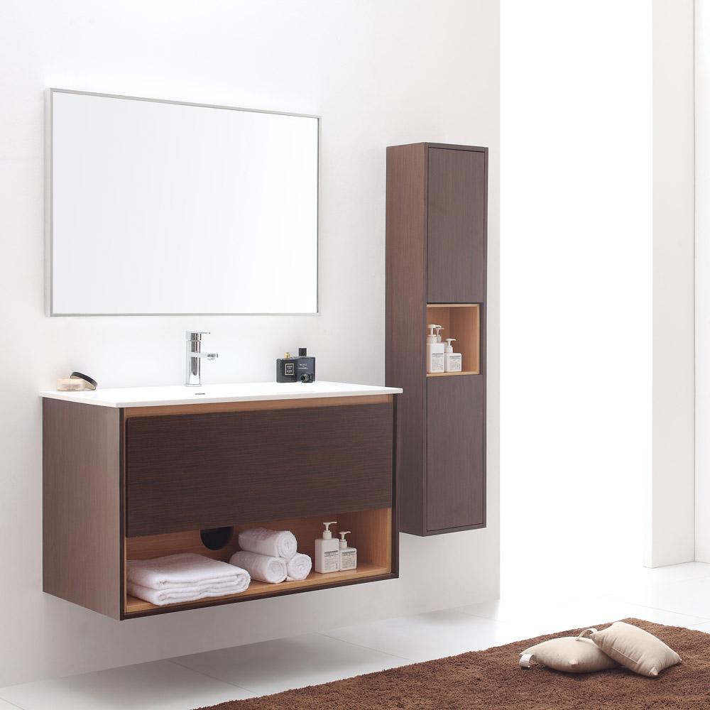 Sonoma Iron Wood Bathroom Vanity Set with White Stone Top | Zuri ...