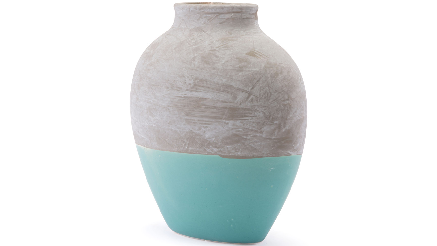Azte Large Vase Gray Amp Teal Zuri Furniture