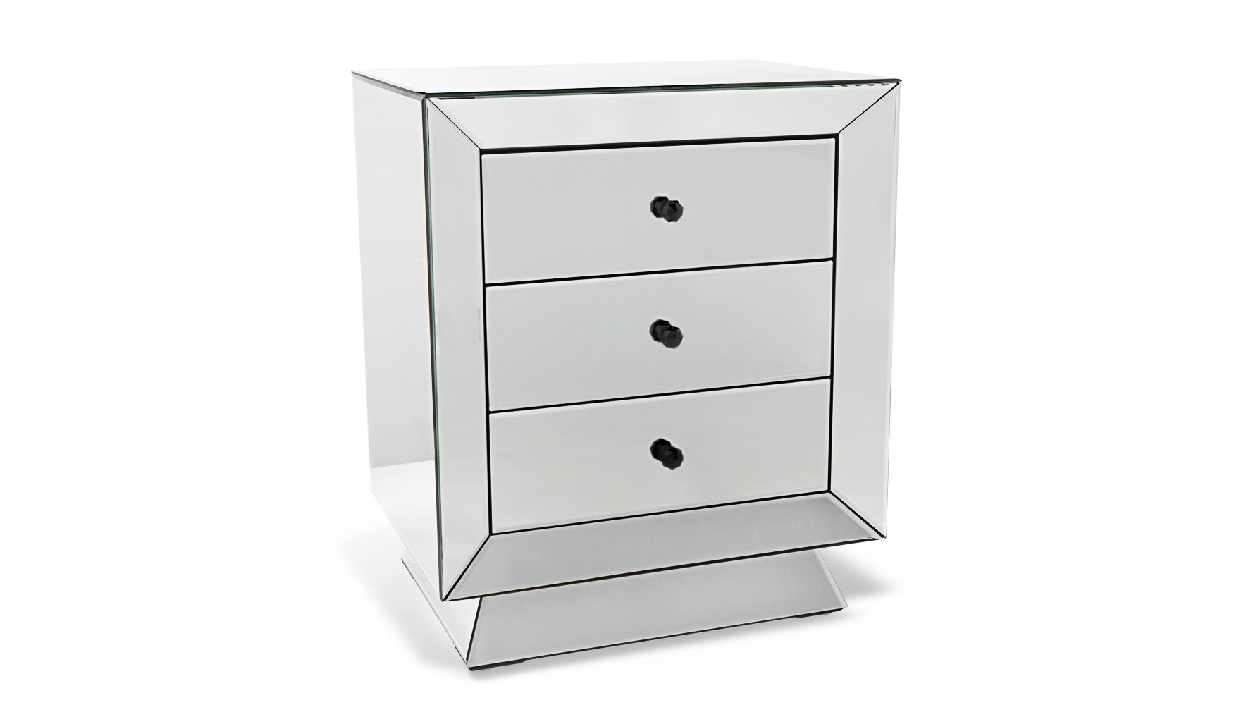 Azul Fully Mirrored Modern Night Stand