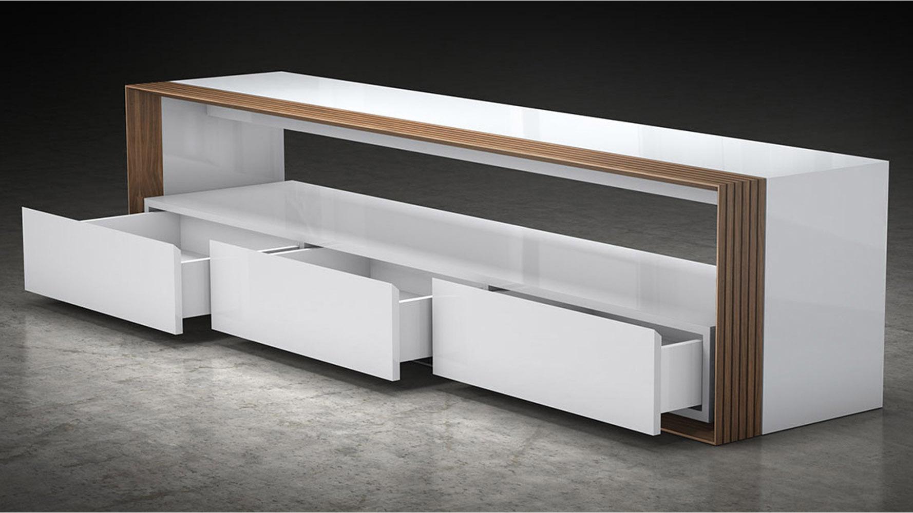 Badan Wood 79 In Media Console Zuri Furniture