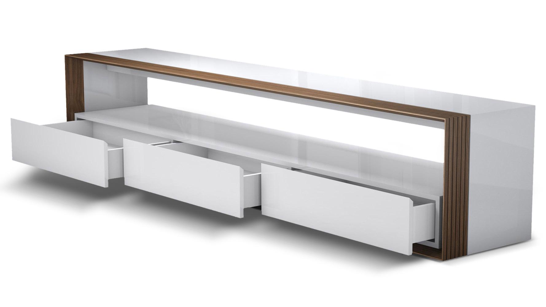 Badan Wood 94 In Media Console Zuri Furniture