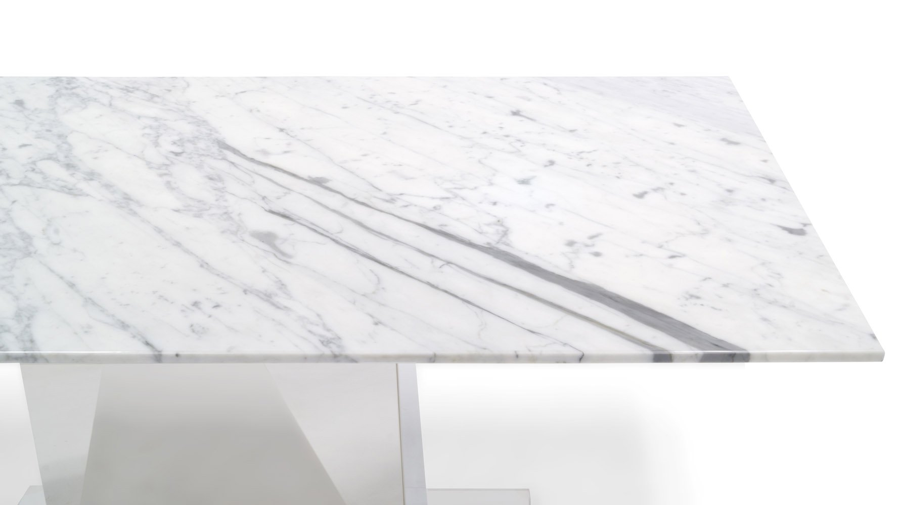 Bianco White Marble Dining Set With Chairs Zuri Furniture