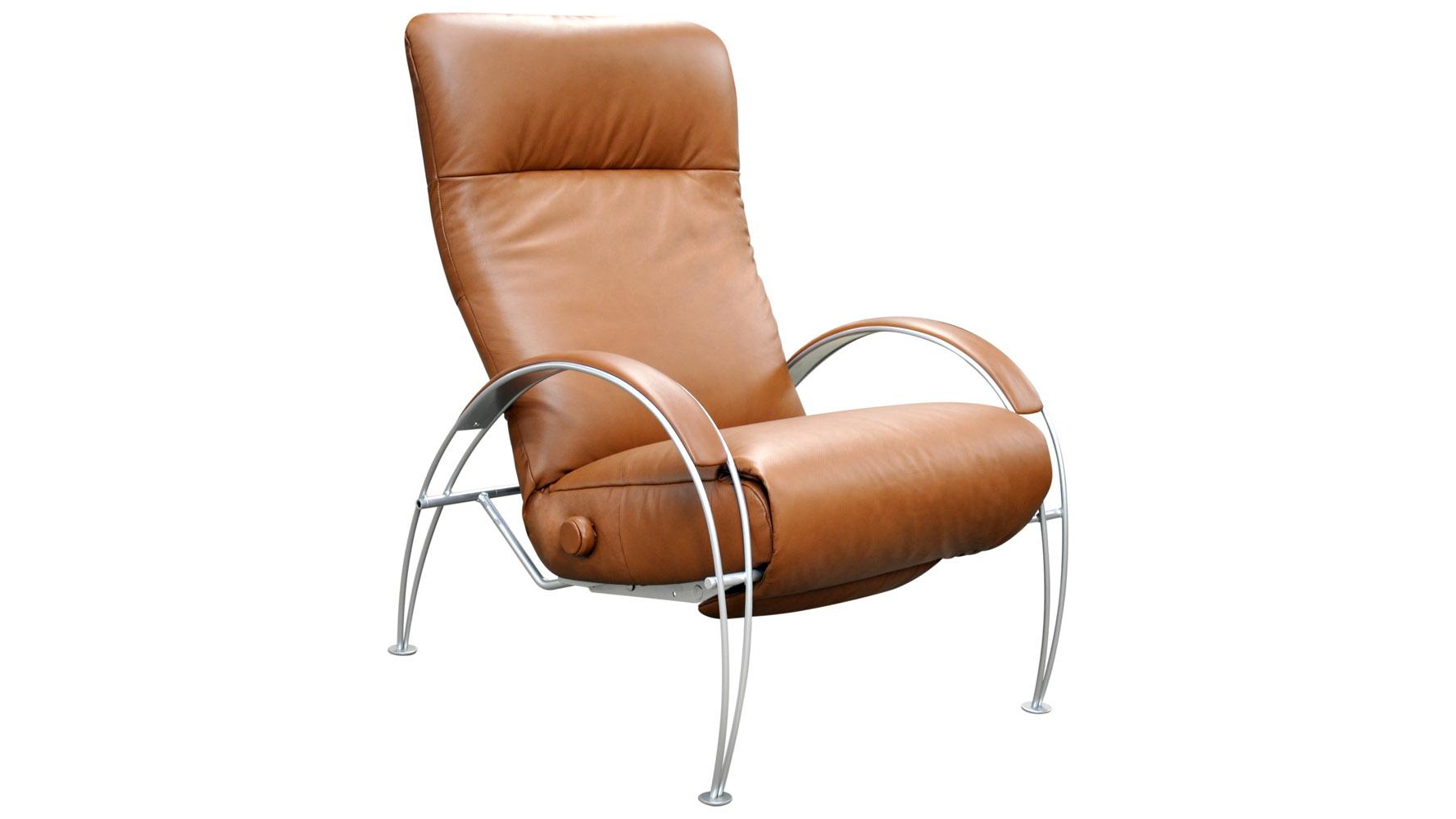 Billie Leather Adjustable Reclining Chair Zuri Furniture
