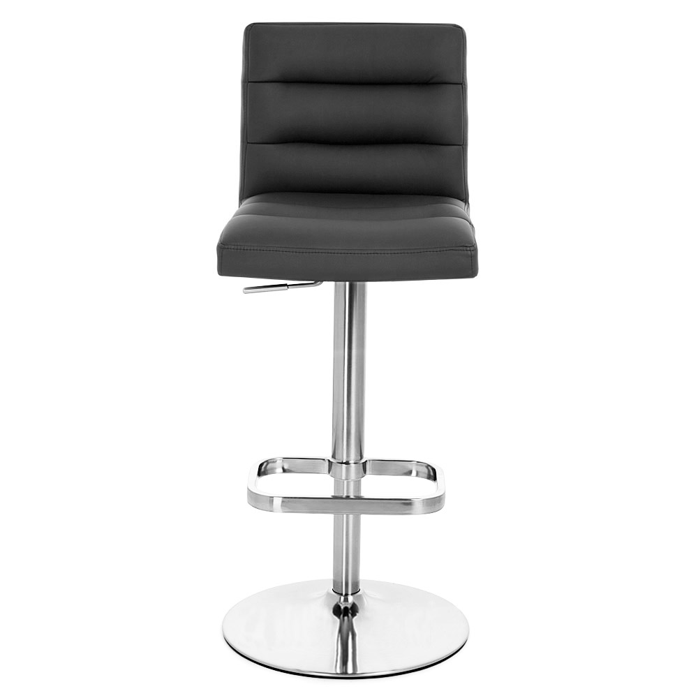 Chrome Bar Stools ~ Lush adjustable height swivel armless bar stool with