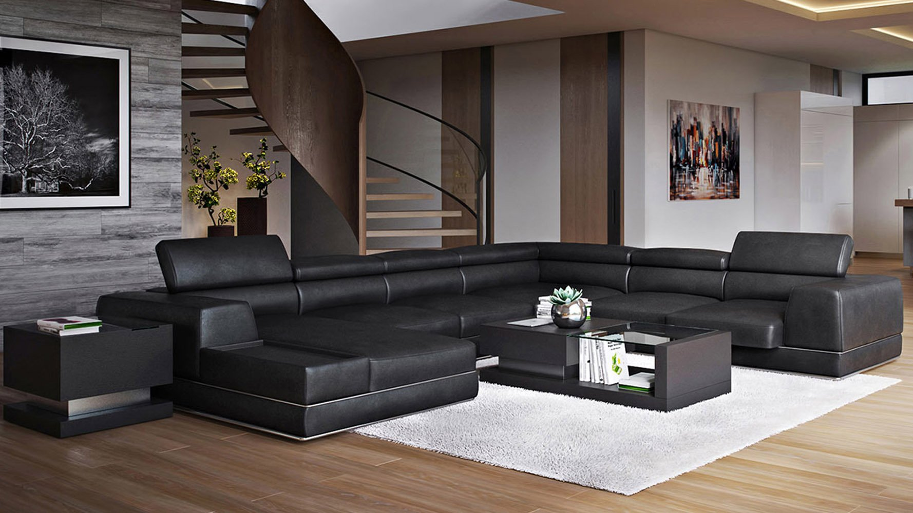 Wynn Sectional Black