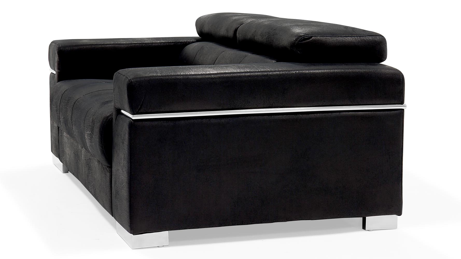 Perfect Black Angelo Suede Sofa With Loveseat | Zuri Furniture TT15