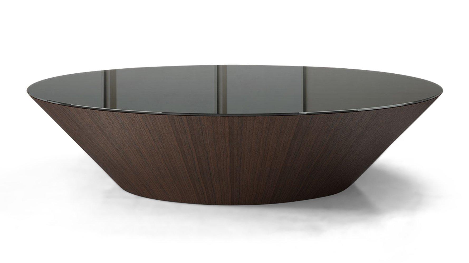 Glass finn coffee table zuri furniture for Large black glass coffee table