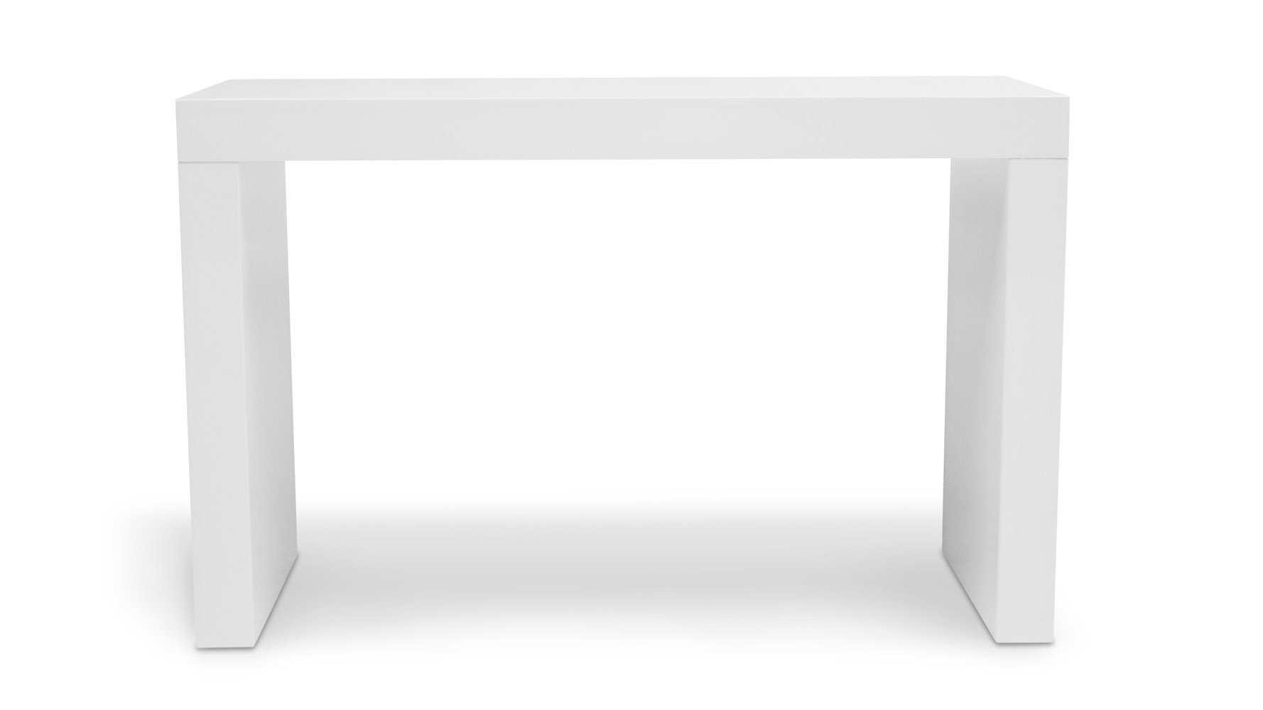 Blanco High Gloss Modern Counter Bar White Zuri Furniture