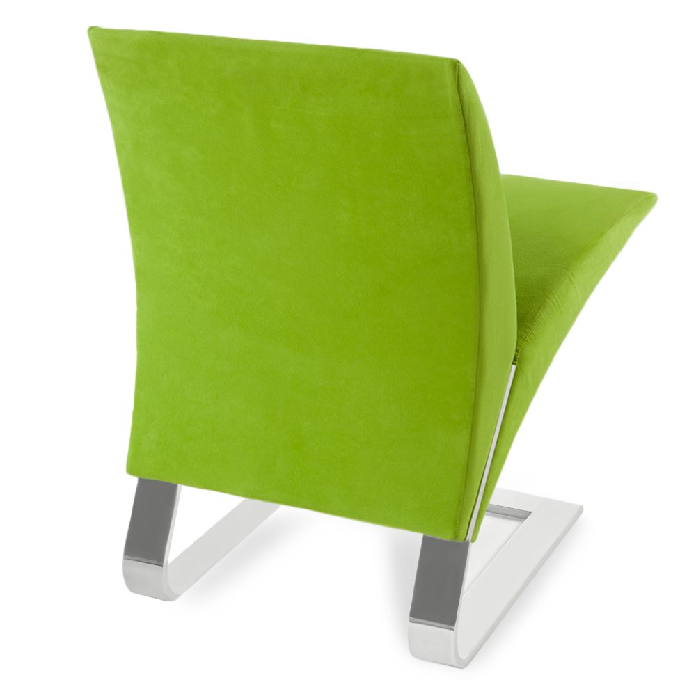 Upholstered Microfiber Bouncy Dining Or Desk Chair Zuri
