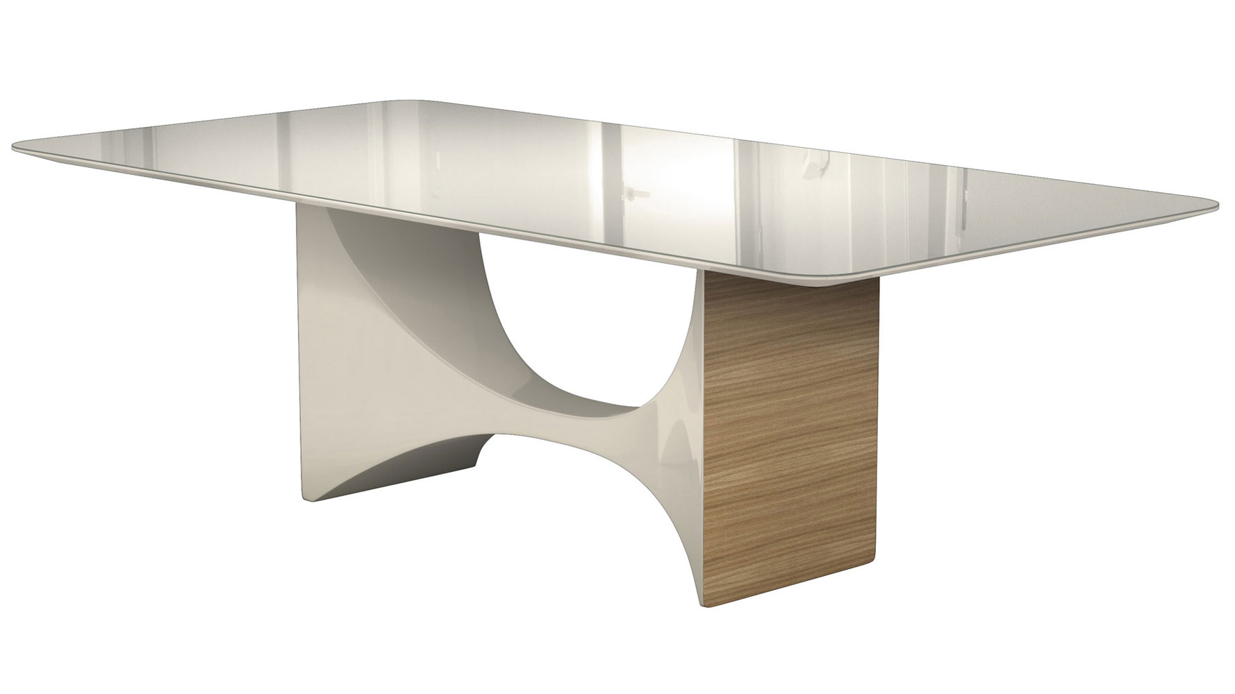 Cambrie wood and glass dining table zuri furniture for Glass and wood dining table