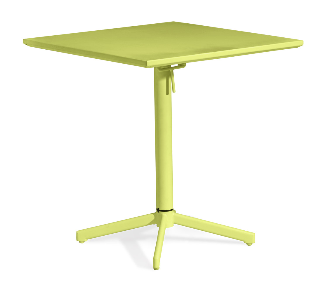 Capri folding square table zuri furniture - Folding dining table ...