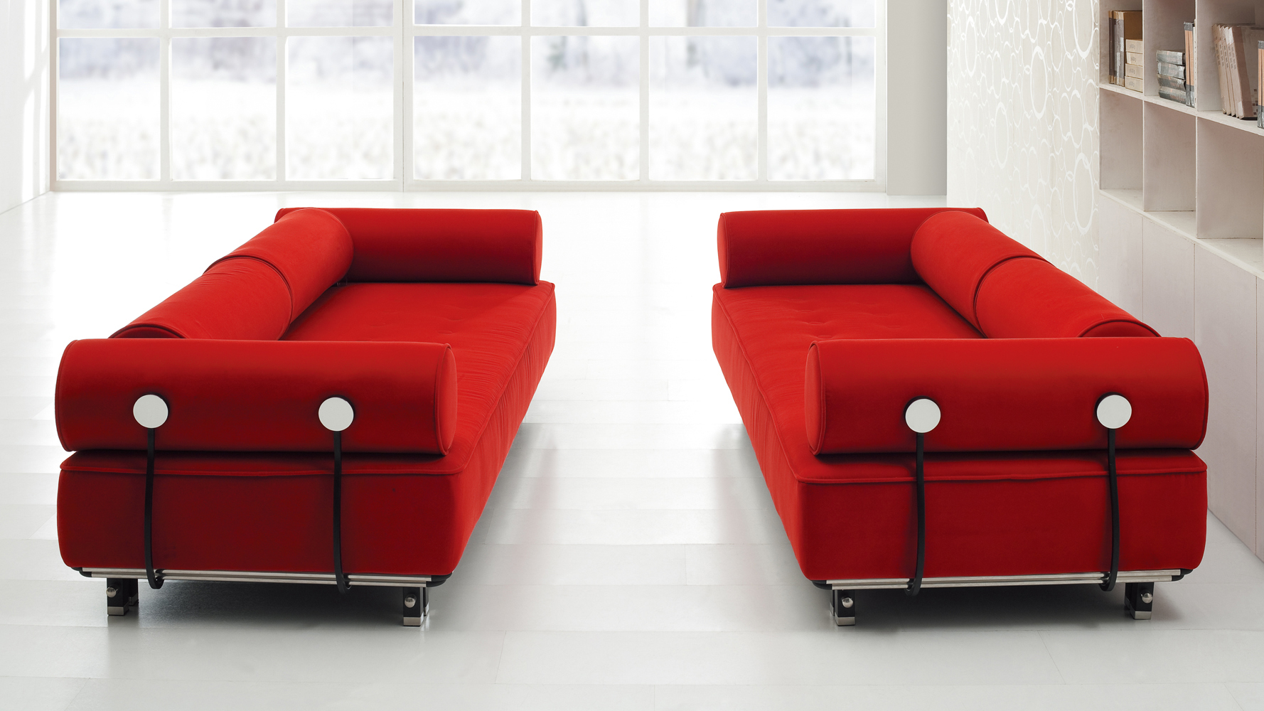 Carrera Modern Fabric Sofa Red Zuri Furniture