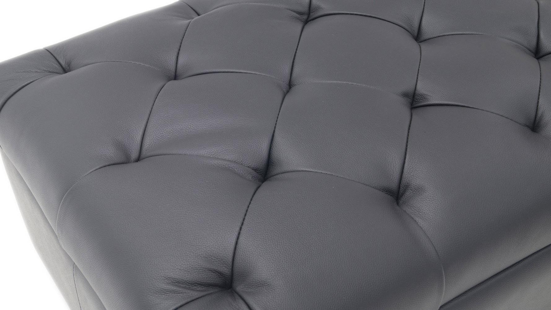 Carson Tufted Contemporary Ottoman Black Zuri Furniture