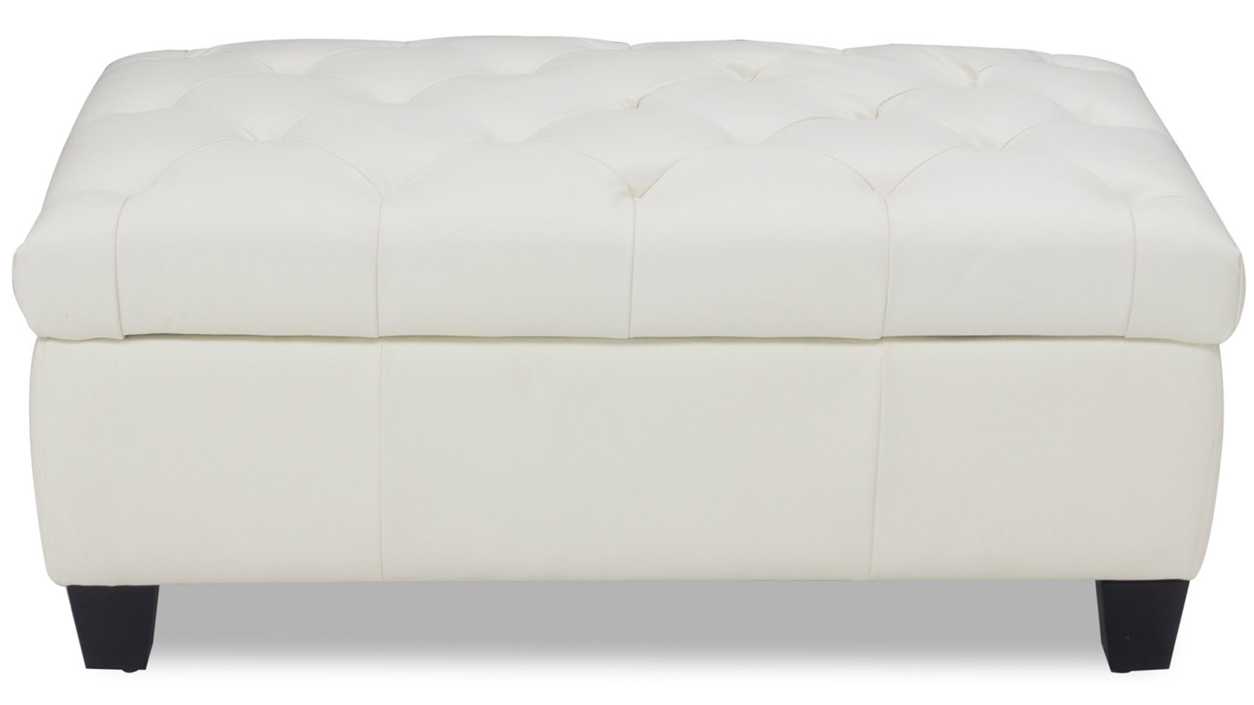 Carson Tufted Contemporary Ottoman White Zuri Furniture