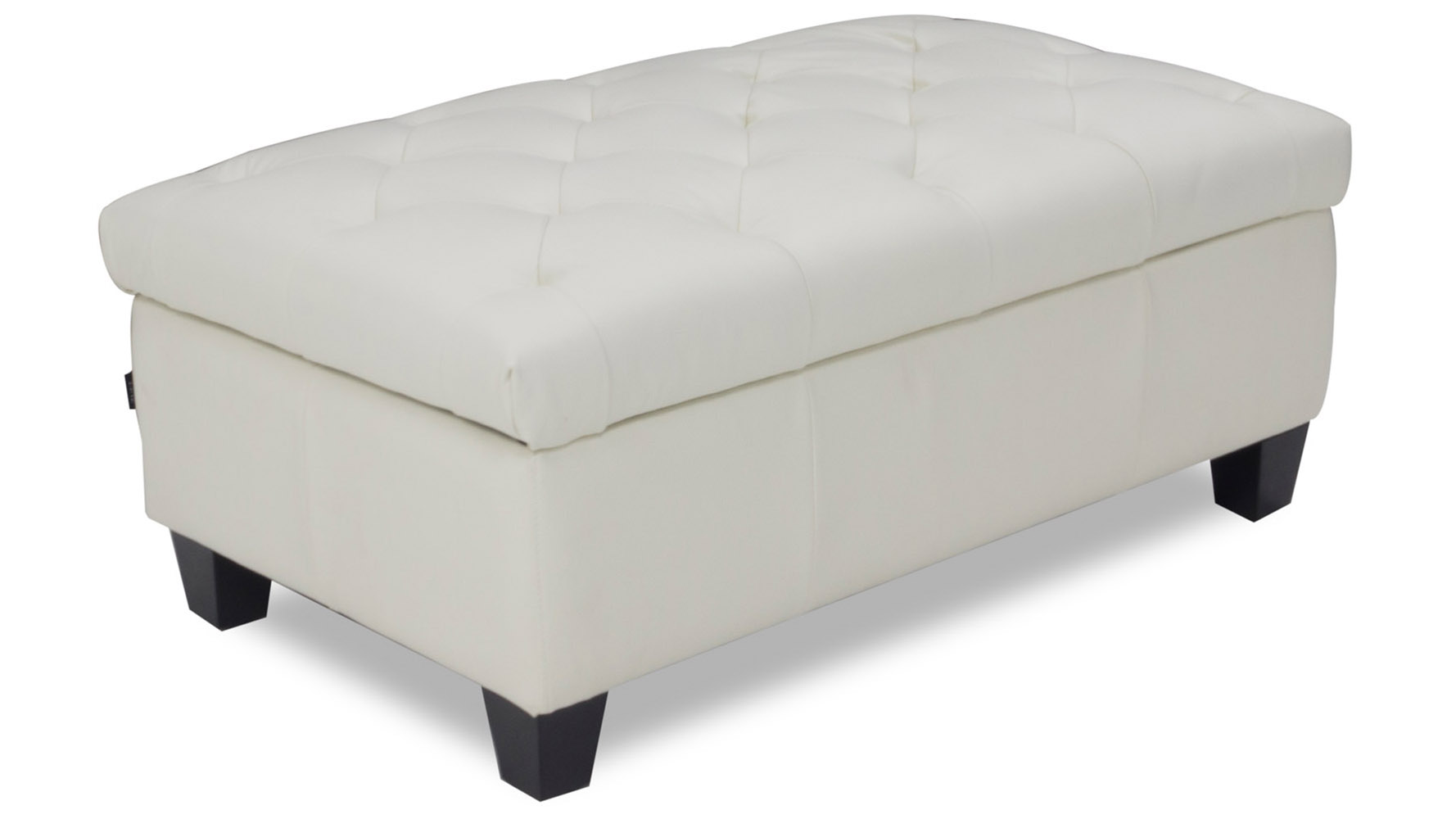 carson tufted contemporary ottoman white zuri furniture. Black Bedroom Furniture Sets. Home Design Ideas