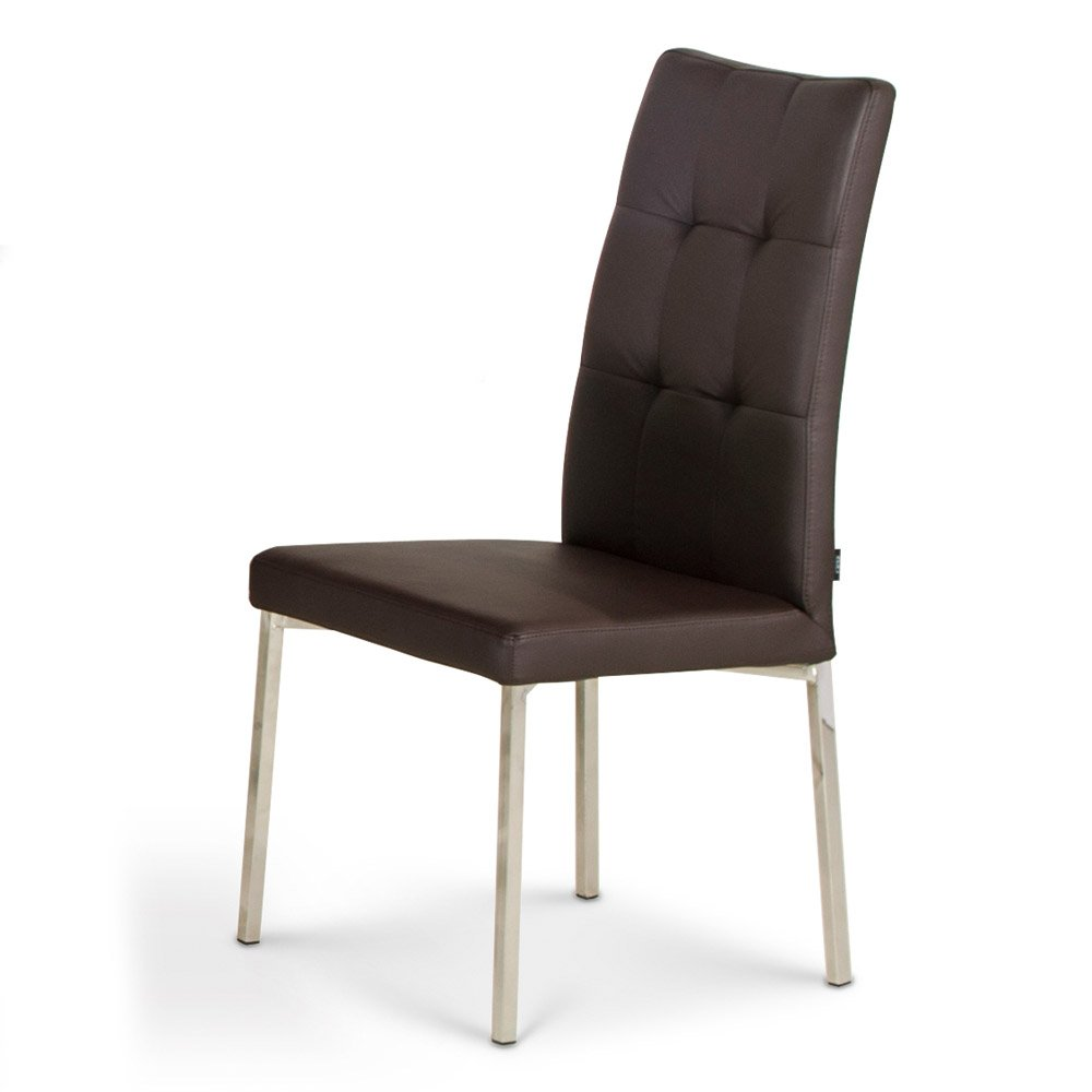 Contemporary Modern Dining Chairs: Charlotte Modern Dining Chair With Chrome Legs