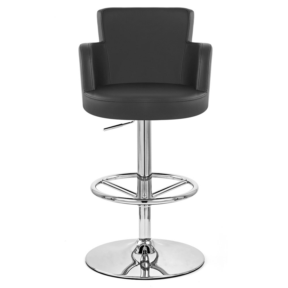 Chateau Bar Stool  sc 1 st  Zuri Furniture & Chateau Adjustable Height Swivel Bar Stool with Chrome Base | Zuri ... islam-shia.org